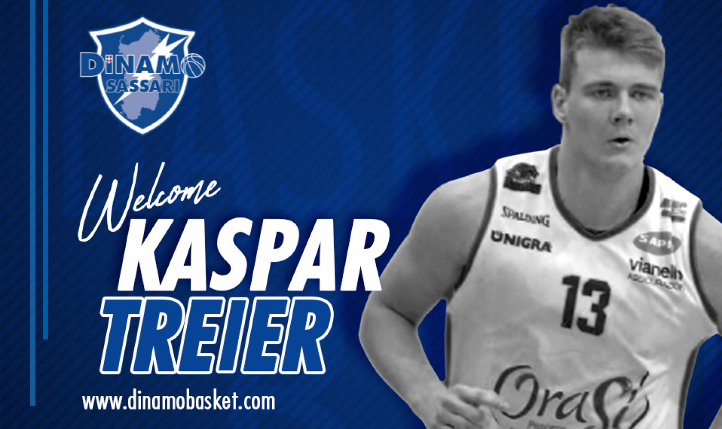 Dinamo Sassari, ufficiale l'ingaggio di Kaspar Treier