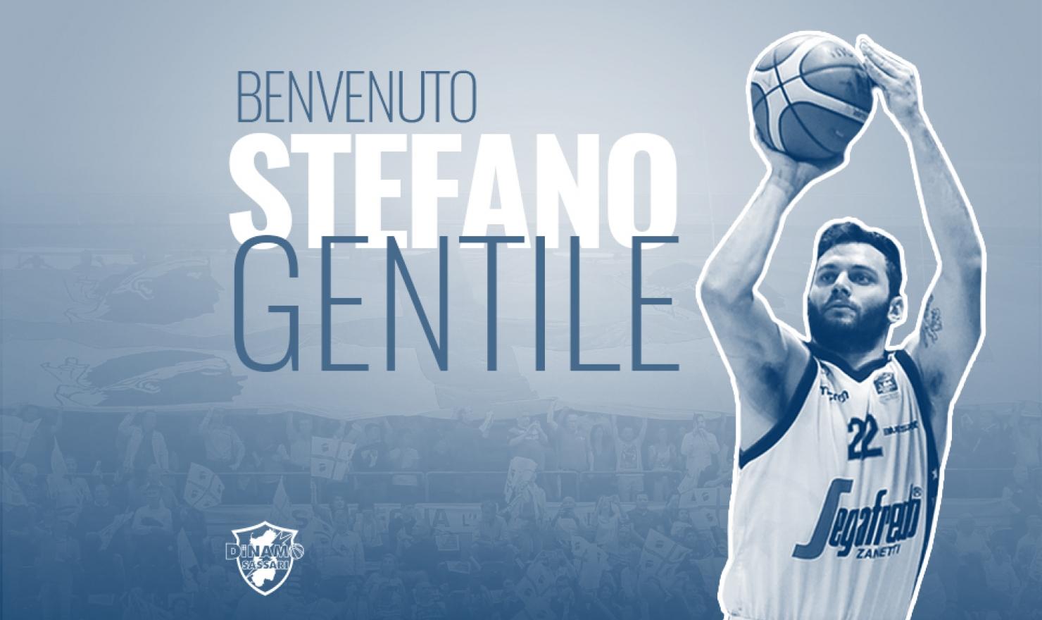 Il play Stefano Gentile vestirà la maglia della Dinamo nelle prossime due stagioni.